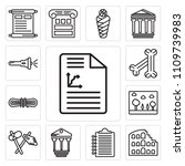 set of 13 simple editable icons ... | Shutterstock .eps vector #1109739983
