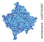 kosovo map composition of... | Shutterstock .eps vector #1109742287