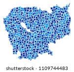 cambodia map mosaic of random... | Shutterstock .eps vector #1109744483