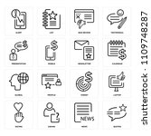 set of 16 icons such as quotes  ...