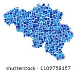 belgium map mosaic of random... | Shutterstock .eps vector #1109758157