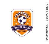 football sport league shield...   Shutterstock .eps vector #1109761877