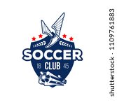 soccer sport club heraldic... | Shutterstock .eps vector #1109761883