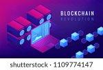 isometric blockchain revolution ... | Shutterstock .eps vector #1109774147