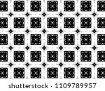 ornament with elements of black ... | Shutterstock . vector #1109789957