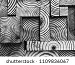 creative wood block pattern | Shutterstock . vector #1109836067