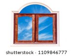 wooden window with beautiful sky | Shutterstock . vector #1109846777
