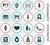 mothers day icon design concept.... | Shutterstock .eps vector #1109850923