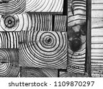 creative wood block pattern | Shutterstock . vector #1109870297