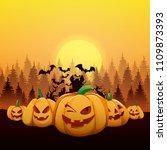 halloween vector illustration   Shutterstock .eps vector #1109873393