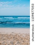 tranquille seascape with white... | Shutterstock . vector #1109877053