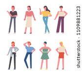 various fashion characters of... | Shutterstock .eps vector #1109881223