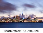 This image shows the Auckland skyline, New Zealand - stock photo