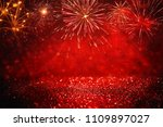 abstract gold  black and red... | Shutterstock . vector #1109897027