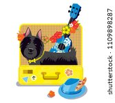 scotch terrier in the suitcase   Shutterstock .eps vector #1109898287