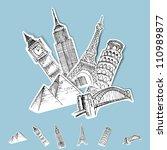 vector sticker travel...   Shutterstock .eps vector #110989877