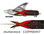 boat decal graphic vector for...   Shutterstock .eps vector #1109900447