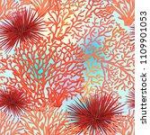 sea world seamless pattern ... | Shutterstock .eps vector #1109901053