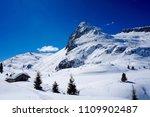 snow mountain landscape sun at... | Shutterstock . vector #1109902487