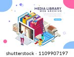 dictionary  library of... | Shutterstock .eps vector #1109907197
