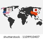 china  usa. conflict caused by... | Shutterstock .eps vector #1109910407