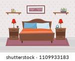 bedroom with furniture. flat... | Shutterstock .eps vector #1109933183
