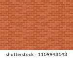 horizontal brown brick wall... | Shutterstock .eps vector #1109943143