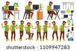 office worker vector. indian... | Shutterstock .eps vector #1109947283