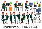 office european worker vector.... | Shutterstock .eps vector #1109948987