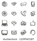 information channel icons... | Shutterstock .eps vector #1109965187