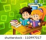 in the classroom   illustration ... | Shutterstock . vector #110997017