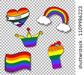 pride month patches ... | Shutterstock .eps vector #1109986223