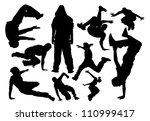 parkour vector silhouette