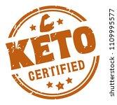 ketogenic diet certified rubber ... | Shutterstock .eps vector #1109995577