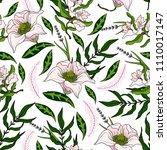 trendy delicate seamless... | Shutterstock .eps vector #1110017147