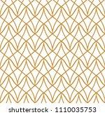 classic art deco seamless... | Shutterstock .eps vector #1110035753