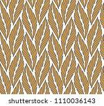 vector leaf seamless pattern.... | Shutterstock .eps vector #1110036143
