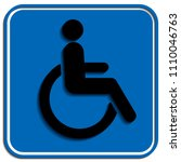disabled wheelchair icon ...   Shutterstock .eps vector #1110046763