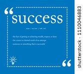 success definition spelling   Shutterstock .eps vector #1110046883