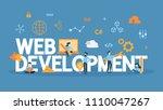 web development concept... | Shutterstock .eps vector #1110047267