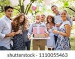 family celebration or a garden... | Shutterstock . vector #1110055463