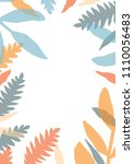 decorative card template with... | Shutterstock .eps vector #1110056483