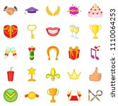 scholarship icons set. cartoon... | Shutterstock . vector #1110064253