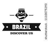 brazil discover logo. simple...   Shutterstock . vector #1110075293