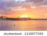 sunset beach of la romana ... | Shutterstock . vector #1110077333