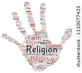 vector conceptual religion  god ...   Shutterstock .eps vector #1110077423