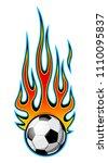 vector illustration of burning...   Shutterstock .eps vector #1110095837