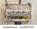 junction box in the apartment ... | Shutterstock . vector #1110097937