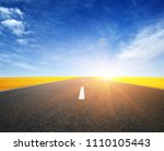 asphalt car road and clouds on... | Shutterstock . vector #1110105443