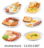 set with various plates of... | Shutterstock . vector #111011387